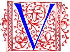 Medieval red V